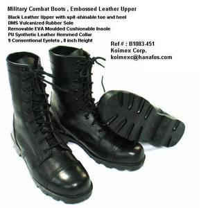 Wholesale Boots: Military Combat Boots , Embossed Leather