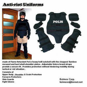 Wholesale Bullet Proof Vest: Flame Retardant Antiriot Uniforms with Bamboo Encased