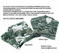 Military Battle Dress Uniforms