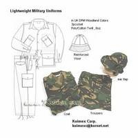 Military Lightweight Camouflage Uniforms