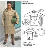Military Khaki Raincoat