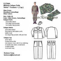 Military Fatigue Suits