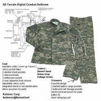Army Combat Uniforms ,Coat & Trousers