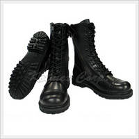 Military Field Boots with Zipper