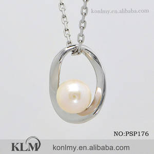 Wholesale wholesale sterling silver jewelry: Fashion Elegant Freshwater Pearl 925 Sterling Silver Pendant Wholesale Jewelry
