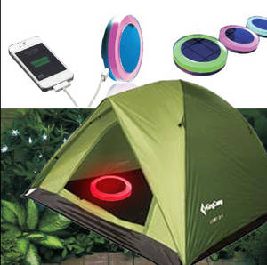 Wholesale mobile solar charger: Solar Camping Light with Mobile Charger