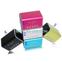 A-8,Music Angel Mini Speaker with FM Radio, Support TF Card