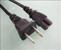AC  Power Cord UL 2pin Plug To C7 Connecor