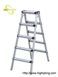 Wholesale side step: Aluminium Folding Double Side Step Ladder(HD-105)