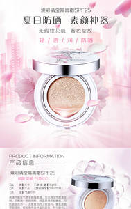 Wholesale Foundation: Air Cusion BB Cream Nude Make Up Light Foundation Private Label OEM ODM