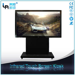 Wholesale keyboard with panel mounting: LASVD 84 Inch Freestanding T Type Interactive Touch Screen All in One Smart TV PC