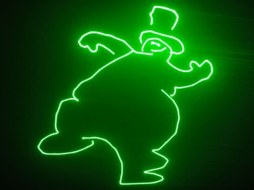 Cartoon Stage Lights 1w green cartoon dj light
