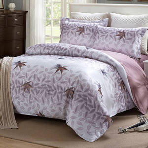 Wholesale duvet cover: Beautiful Satin Cotton Bed Sheets Duvet Cover Bedding Set