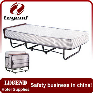 Wholesale metal bed: High Quality Low Price Bedroom Furniture Metal Frame Folding Hotel Extra Bed , Foldable Bed