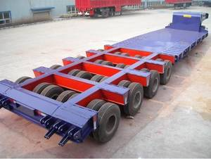 Wholesale i beam standard size in mm.: 100Ton Low Bed Trailer