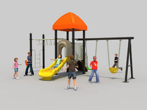 Wholesale galvanized iron sheet density: Old Style Playground Classical Cheap Outdoor Kids Playset