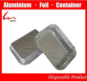 Wholesale Foil Containers: Take-out Food Eco-friendly Aluminum Foil Fast Food Box with Cover