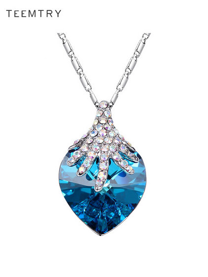 Wholesale Heart Of Sea Austria Crystal Pendant Necklace