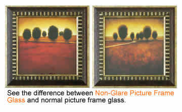 non flare anti reflective picture frame glass product
