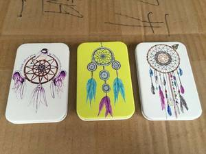 Wholesale Makeup Mirror: Colorful Feather Print PU Pocket Mirror