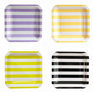 Wholesale paper plate: Square Paper Plate 9 Inch Party Goods