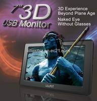 Sell 7 inch 3D USB Monitor, Naked Eye, Without Glasses, Just USB Powe