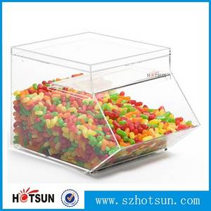 Wholesale candy box: Clear Acrylic Candy Box/ Bins/Dispenser/ Container Wholesale