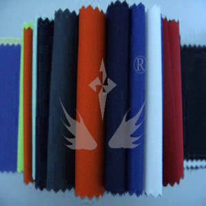 Wholesale fabric woven labels: 88% Cotton 12% Polyester Flame Retardant Faric