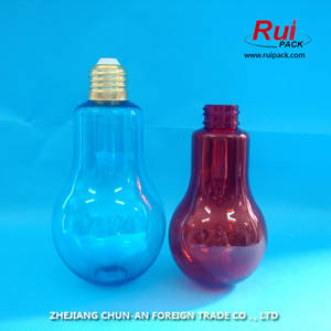 Wholesale beverage bottle: Hot Sale Lovely Bulb Shape Drink Beverage Bottle,Empty Energtic Drinking Plastic Bottle