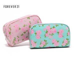 Wholesale travel bag: Wholesale Canvas Coated PVC Flower Print Travel Storage Fashion Cosmetic Makeup Bag