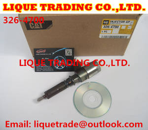 Wholesale injector 0445110376: Original and New CAT CR Injector 326-4700 / 3264700 / 32F61-00062 for CAT 320D Excavator D18M01Y13P4
