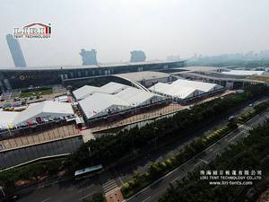 Wholesale pvc door curtains: 50x100m High Quality Aluminum Exhibition Tent with Glass Walls for Canton Fair