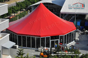 Wholesale outdoor tents for events: Aluminum Octagon Wedding Marquee Tent with High Peak for Outdoor Events