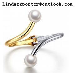 Wholesale gold bangles: Fashion Alloy &Gold and Silver Tone Pearl CZ Stone Bangle