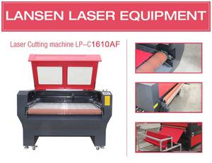Wholesale paper tablecloth: High Precision Full Automatic 1610 Laser Cutting Machine for Fabric Cloth Garment Cutting