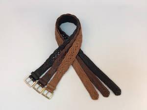 Wholesale fashion belt: Fashion Italia Genuine Leather Braided Belt