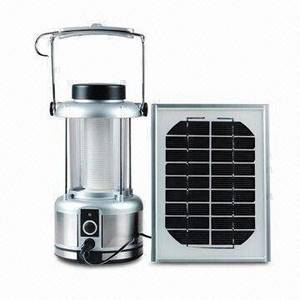 Wholesale solar panel: Solar Camping Lantern with Solar Panel