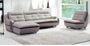 Wholesale furniture: L Shape Furniture European Style Leather Sofa