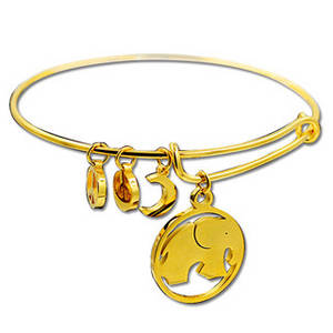 Wholesale gold bangles: New Design 18K Gold Plated Stainless Steel Adjustable Bangles