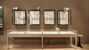 Wholesale glass cabinet: Creative Design Jewelry Shop Glass Display Cabinet Showcase