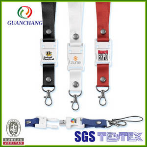 Wholesale cheap phone: China Cheap Promotional Products Cell Phone Lanyard with USB Flash Drive
