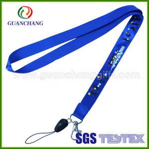 Wholesale china mobile phone: Wholesale Products China Polyester Satin Ribbon Mobile Phone Lanyard