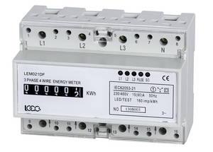 Wholesale easy maintenance lighting poles: LEM021 Series DIN Rail Three Phase Electronic Energy Meter