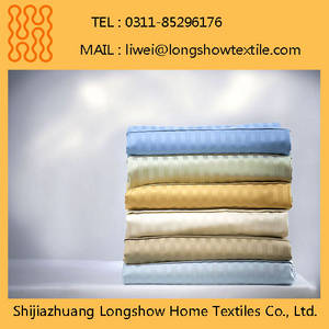 Wholesale hospital bed: White Jacquard Bed Sheet Fabric Used in Hotels and Hospitals