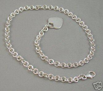 Tiffany Co Sterling Heart Tag  1931772 1932165 Tiffany Chain Necklace