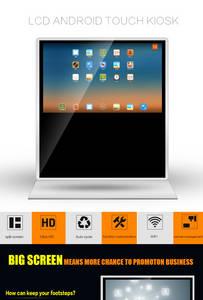 Wholesale ad lcd display: Kiosk 65 Inch Ad Player Windows Free Standing HD LCD Display Desktop Computer High Quality Desktop C