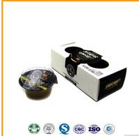 80g Round Pudding Cup in Box Packing Coffee Flavor