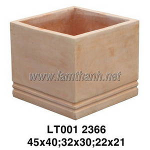 Wholesale ceramic: Square Terracotta Ceramic Garden Planter