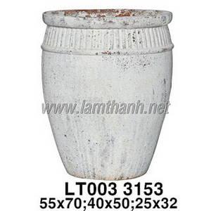 Wholesale vase: Big White Ancient Glazed Ceramic Garden Vase