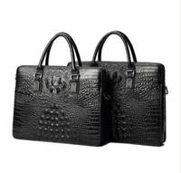 Sell Real leather men handbags with crocodile texture